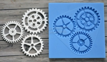 ProSvet Silikonform, Set of gears Large