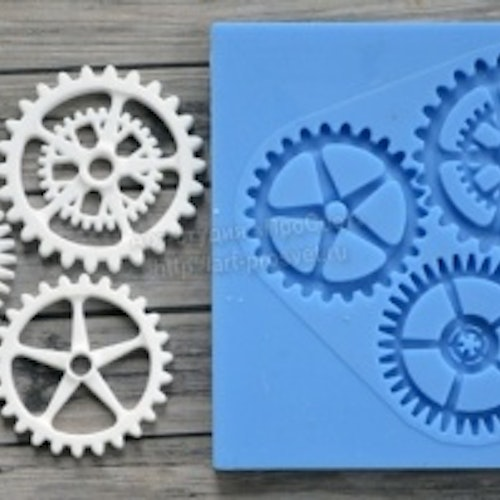 ProSvet Silikonform, Set of gears Large md0110