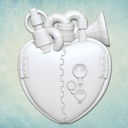 ProSvet Silikonform, Steam heart small