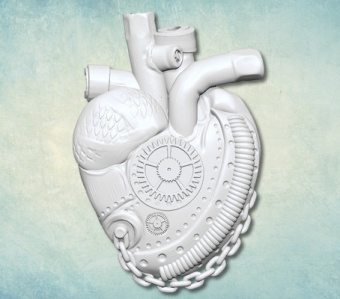 ProSvet Silikonform, Heart with gear small