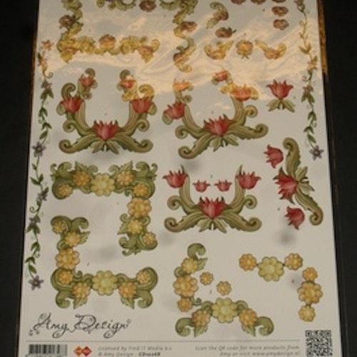3D klippark, Amy10268 blomster hörn