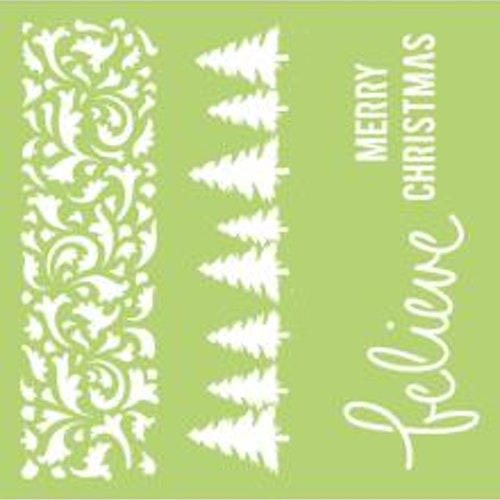 Kaisercraft Designer Template 12X12 - Christmas Borders