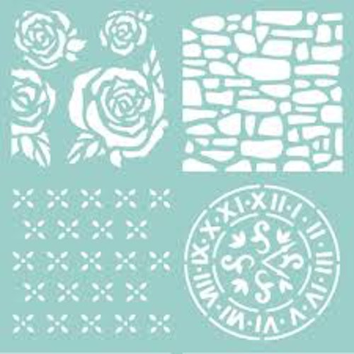 Kaisercraft Thicker Template 12X12 - Floral Quarters
