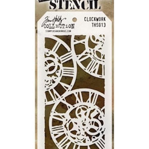 Tim Holtz Layered Stencil 4.125X8.5 - Clockwork