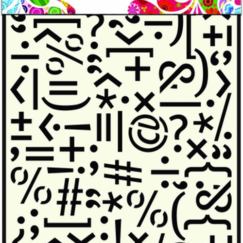 "DDBD MASK STENCIL A5 ""Punctuation Marks"""