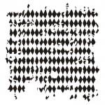 13arts Mask Stencil 15x15cm Tattered Diamonds