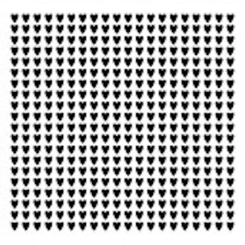 13arts Mask Stencil 15x15cm polka hearts