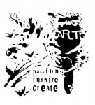 13arts Mask Stencil 15x15cm art brush