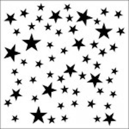 13arts Mask Stencil 15x15cm stars