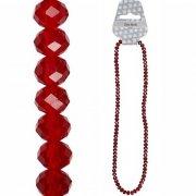 Fasettpärlor, glas 3-4mm, 100st Red