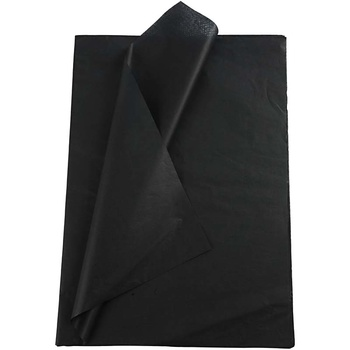 Silkespapper, 50x70, 25 ark, svart