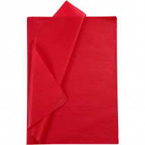 Silkespapper, 50x70, 25 ark, röd