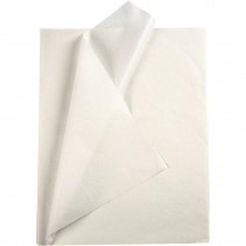 Silkespapper, 50x70, 25 ark, vit