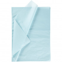 Silkespapper, 50x70, 25 ark, ljus blå