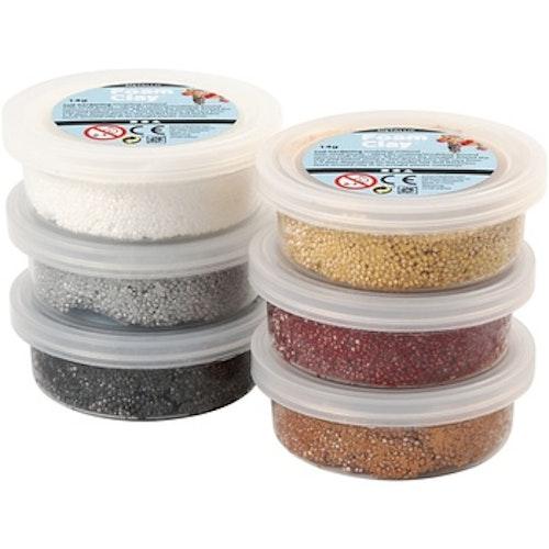 Foam Clay®, mixade färger, metallic, 6x14g