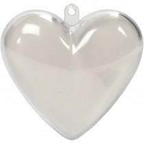 Akrylhjärta, ca 8cm hög