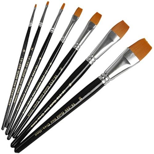 Gold Line pensel , platt storlek 0