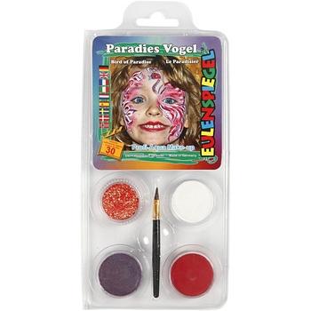 Ansiktsfärg, set med 4 st, Prinsessa