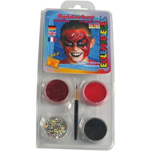 Ansiktsfärg, set med 4 st, Spindelmannen
