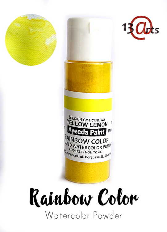 Rainbow Color Yellow Lemon