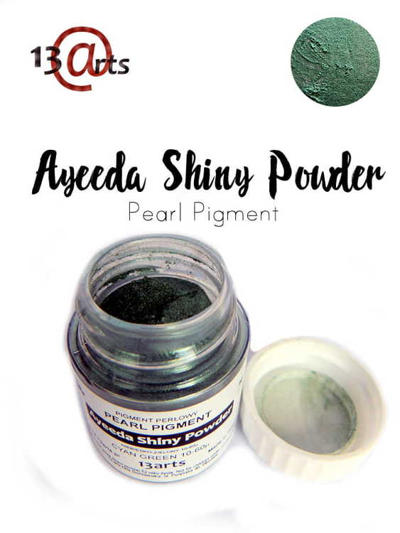 Ayeeda Shiny Powder Cyan Green