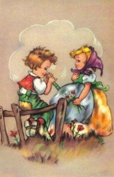 SB 015 Flicka och pojke spelar flöjt