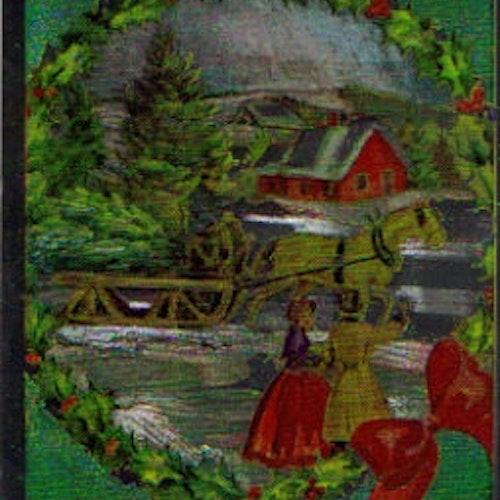 SB 073 Jul vinterlandskap, folierad bild