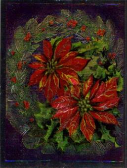 SB 075 Jul krans med julstjärna, folierad bild