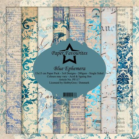 "Paper Favourites Pack ""Blue Ephemera"""