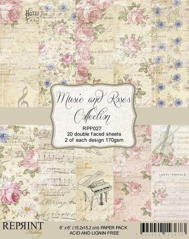 """REPRINT Paperpack """"Music & Roses"""""""