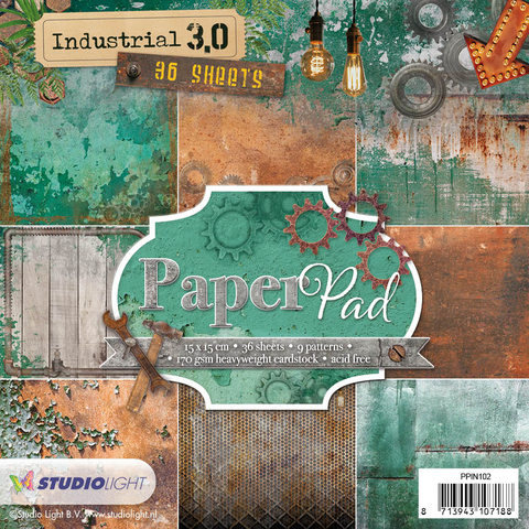 STUDIO LIGHT PAPER PAD 15X15CM PPIN102