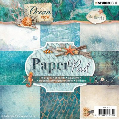 STUDIO LIGHT PAPER PAD 15x15cm PPOV117