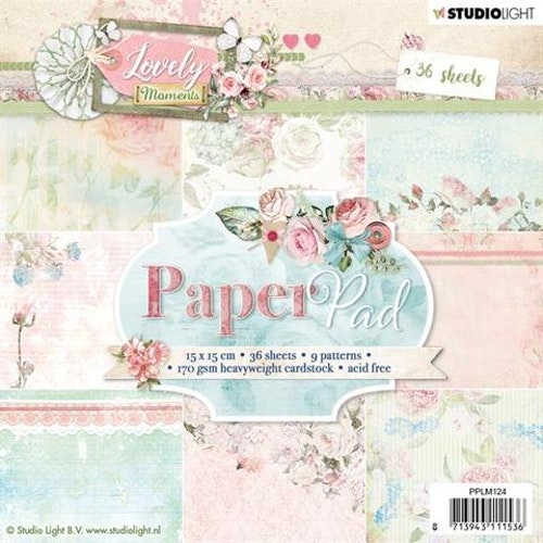 STUDIO LIGHT PAPER PAD 15x15cm PPLM124