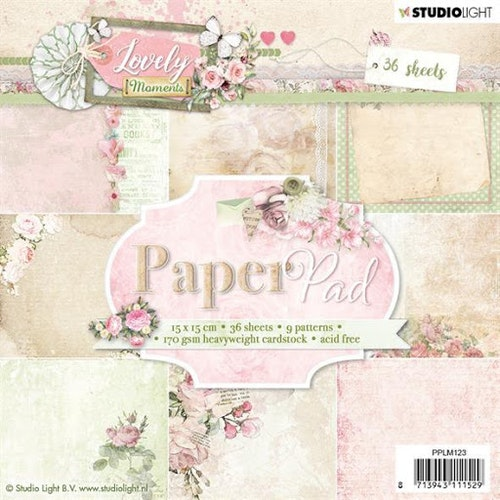 STUDIO LIGHT PAPER PAD 15x15cm PPLM123