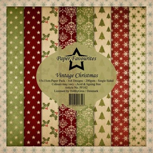 "Paper Favourites Paper Pack ""Vintage Christmas"""