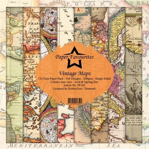 "Paper Favourites Paper Pack ""Vintage Maps"""