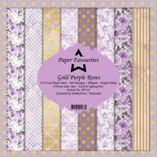 "Paper Favourites Pack ""Gold Purple Rose"""