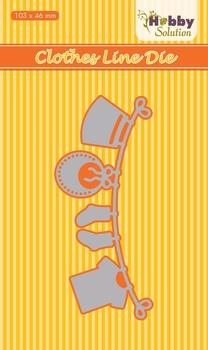 Nellie Snellen/Hobby Solution Die - clothesline