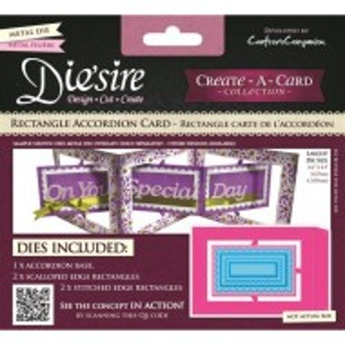 die'sire, Die, rectangle accordion card