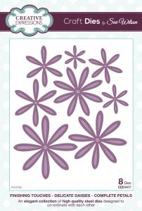 Creative Expressions Die, CED1417 Delicate Daisies - Complete Petals
