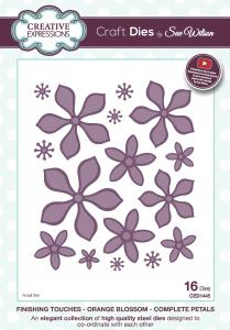 Creative Expressions Die, CED1445 Orange Blossom-Complete Petals