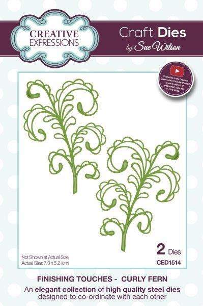 Creative Expressions Die, CED1514 Curly Fern
