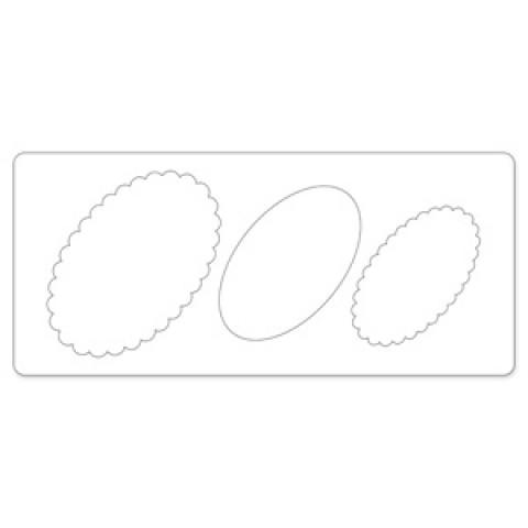 656116 Sizzix Bigz XL Die - Banner layered oval
