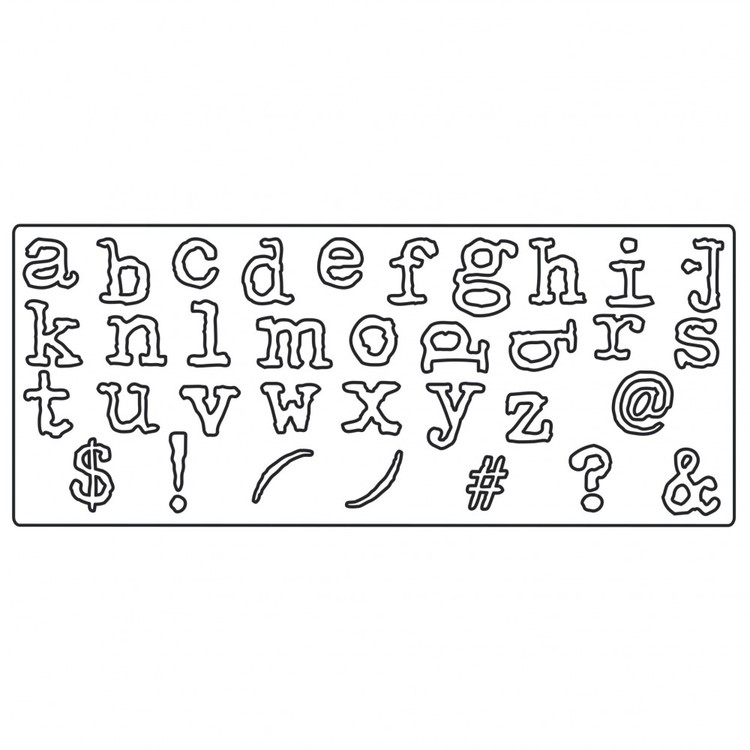 661176 Sizzix Bigz XL Alphabet Die - Typo Lower