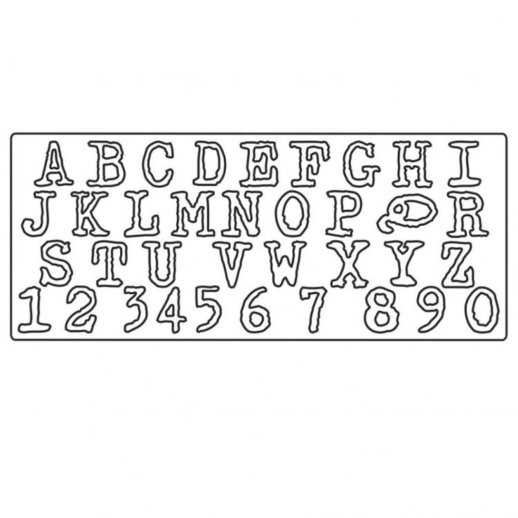 661198 Sizzix Bigz XL Alphabet Die - Typo Upper