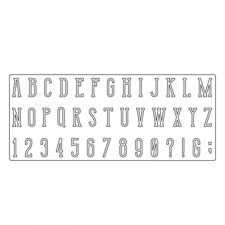 661820 Sizzix Bigz XL Alphabet Die - Broadway