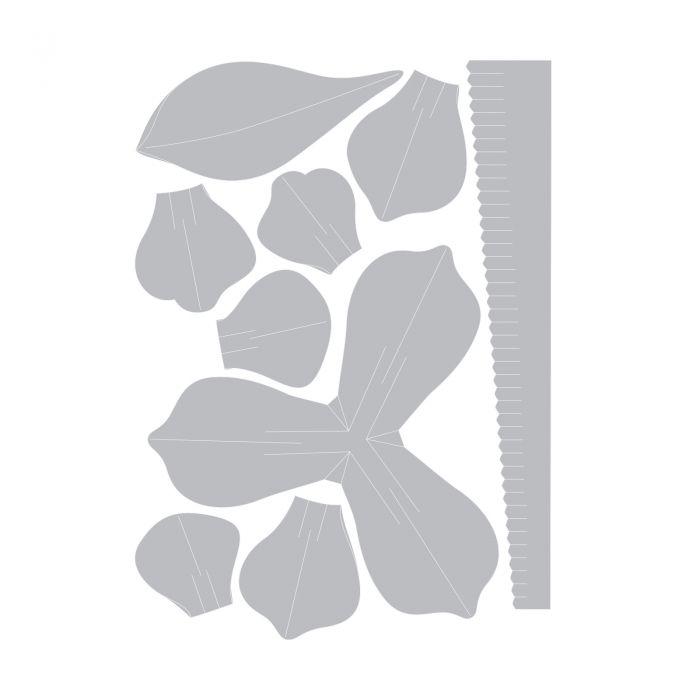 661881 Sizzix Thinlits Die Set 9PK - Large 3-D Flower