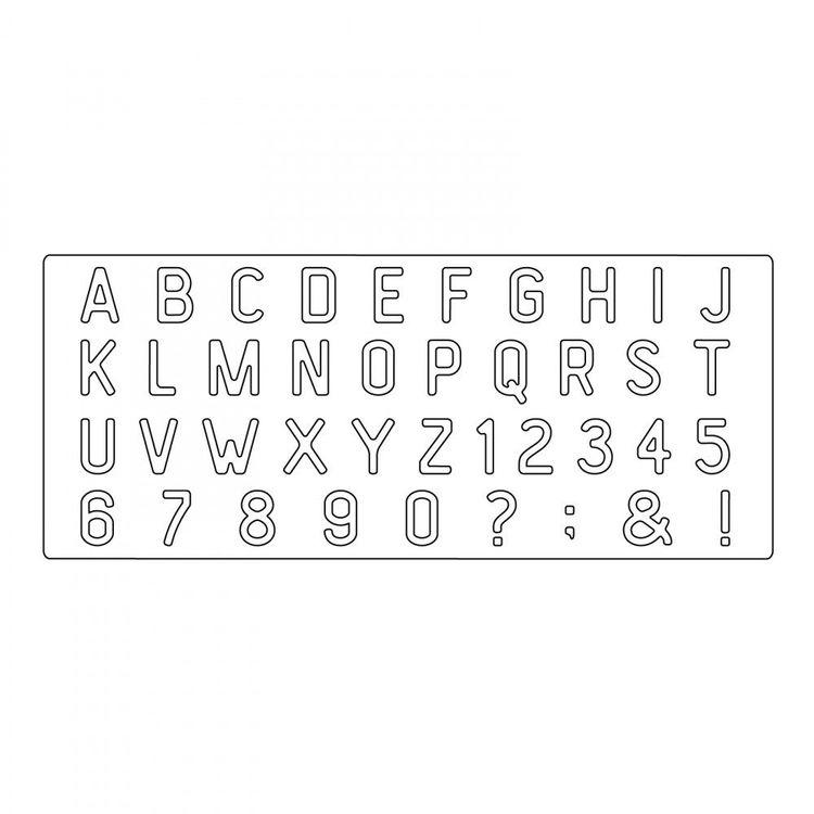 663111 Sizzix Bigz XL Alphabet Die - Letterboard