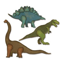 664155 Tim Holtz Sizzix Thinlits Die Set 3PK - Prehistoric