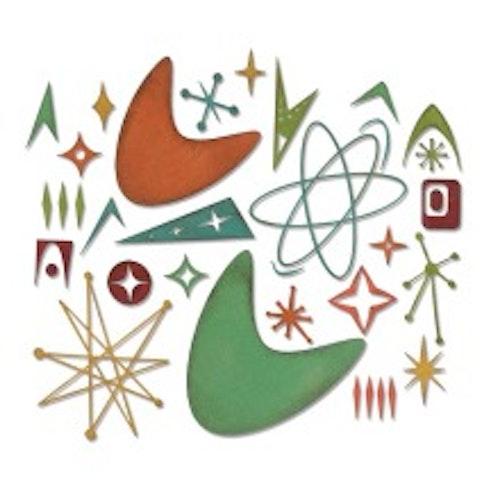 664152 Tim Holtz Sizzix Thinlits Die Set 25PK - Atomic Elements